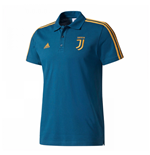 2017-2018 Juventus Adidas 3S Polo Shirt (Petrol Night)
