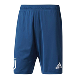 2017-2018 Juventus Adidas Training Shorts (Blue) - Kids