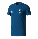 2017-2018 Juventus Adidas Training Tee (Blue) - Kids