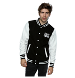 Suicide Squad Men's Joker Icon Varsity Jacket Black / White