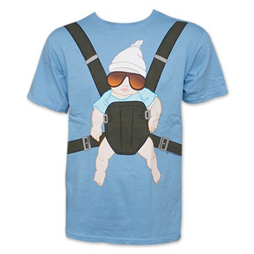 The Hangover Baby Carrier Light Blue Graphic TShirt