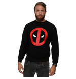 Marvel Men's Deadpool Clean Logo Sweatshirt Black