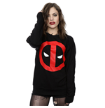 Marvel Comics Ladies Sweatshirt: Deadpool Clean Logo