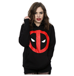Marvel Comics Ladies Pullover Hoodie: Deadpool Clean Logo