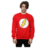 DC Comics Men's Flash Distressed Logo Sweatshirt Red