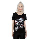 DC Comics Ladies Tee: Suicide Squad Harley Quinn Puddin with Scoop Neck