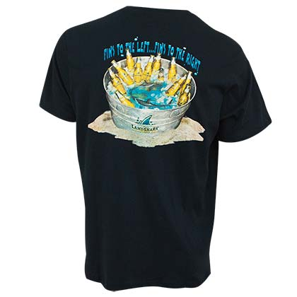 LANDSHARK Beer Bucket Black Tee Shirt