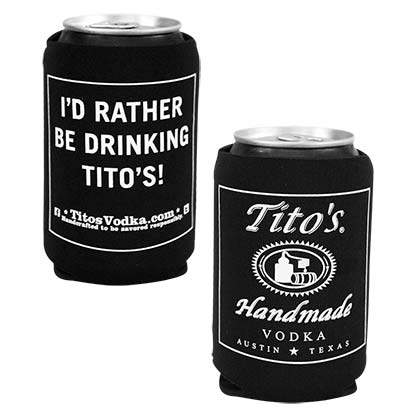 TITO'S VODKA I'd Rather Be Drinking Tito's Black Can Cooler