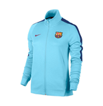 2017-2018 Barcelona Nike Authentic Franchise Jacket (Blue) - Womens