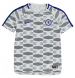 2017-2018 Chelsea Nike Pre-Match Training Shirt (White) - Kids
