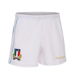 2017-2018 Italy Macron Home Rugby Shorts (White)