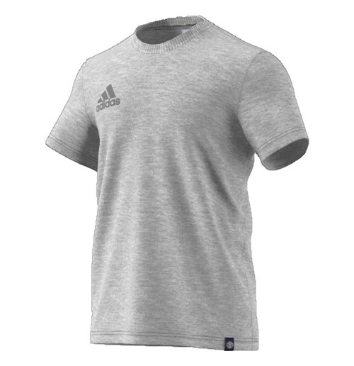 2017-2018 Man Utd Adidas Graphic Tee (Grey)