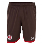 2017-2018 St Pauli Home Football Shorts (Timber)