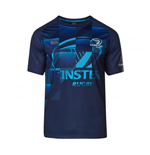 2017-2018 Leinster Rugby Vapordri Poly Graphic Tee (Blue)