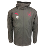2017-2018 Arsenal Puma Performance Rain Jacket (Steel Grey)
