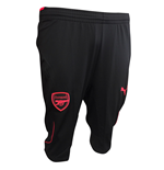 2017-2018 Arsenal Puma Three Quarter Length Pants (Black)