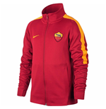 2017-2018 AS Roma Nike Authentic Franchise Jacket (Team Red) - Kids