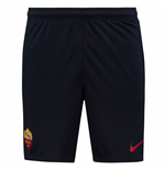 2017-2018 AS Roma Nike Longer Knit Shorts (Dark Blue)