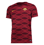 2017-2018 AS Roma Nike Pre-Match Training Shirt (Red)