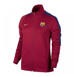 2017-2018 Barcelona Nike Authentic Franchise Jacket (Red) - Womens