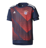 2017-2018 Bayern Munich Adidas Pre-Match Training Shirt (Red) - Kids