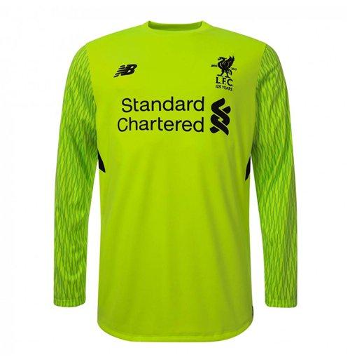 best service 34ca9 dfaff 2017-2018 Liverpool Third Long Sleeve Goalkeeper Shirt (Green)