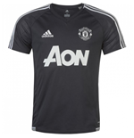 2017-2018 Man Utd Adidas Training Shirt (Night Grey) - Kids