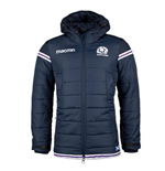 2017-2018 Scotland Macron Rugby Travel Long Puffa Jacket (Navy)