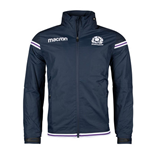2017-2018 Scotland Macron Rugby Full Zip Waterproof Mesh Jacket (Navy)
