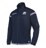 2017-2018 Scotland Macron Rugby Full Zip Waterproof Fleece Jacket (Navy)