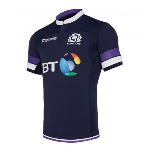 2017-2018 Scotland Home Authentic Pro Body Fit Rugby Shirt