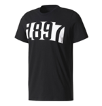 2017-2018 Juventus Adidas SGR Graphic T-Shirt (Black)