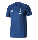 2017-2018 Juventus Adidas Training Shirt (Blue)