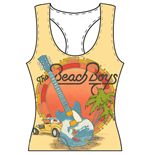 The Beach Boys Ladies Tee Vest: All-over