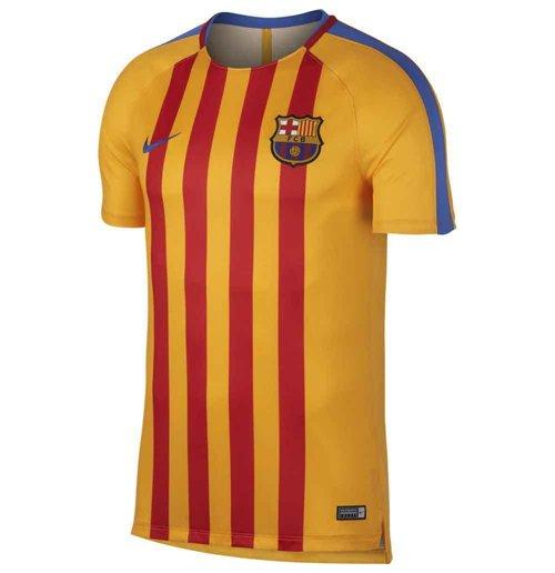 timeless design 49709 22c3a 2017-2018 Barcelona Nike Pre-Match Dry Training Shirt (University Gold) -  Kids