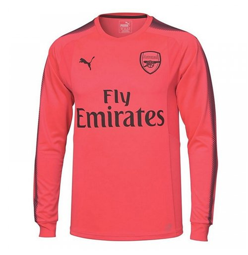 2017-2018 Arsenal Puma Away LS Goalkeeper Shirt (Pink)