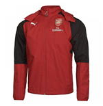 2017-2018 Arsenal Puma Performance Rain Jacket (Chilli Pepper)