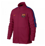 2017-2018 Barcelona Nike Authentic Franchise Jacket (Red) - Kids