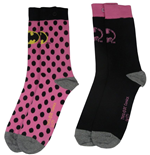 DC Comics Ladies Socks 2-Pack Batman Pink
