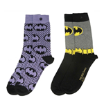 DC Comics Ladies Socks 2-Pack Batman Purple