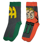 DC Comics Mens Socks 2-Pack Aquaman