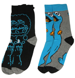Sesame Street Mens Socks 2-Pack Cookie Monster