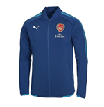 2017-2018 Arsenal Puma Stadium Jacket (Blue) - Kids