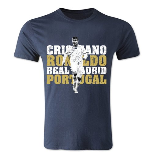 Cristiano Ronaldo Real Madrid T-Shirt (Navy)