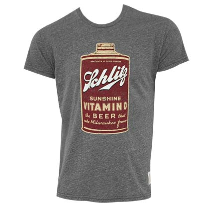 SCHLITZ Retro Vitamin D Grey Tee Shirt