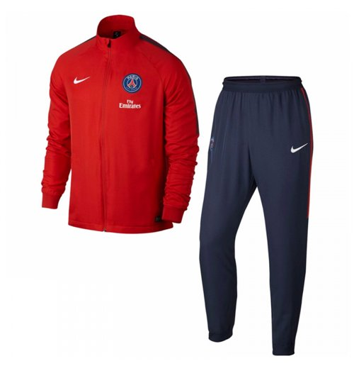 e14862bfb44b Buy Official 2017-2018 PSG Nike Dry Woven Tracksuit (Red)