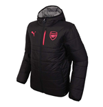 2017-2018 Arsenal Puma Reversible Jacket (Black-Grey) - Kids