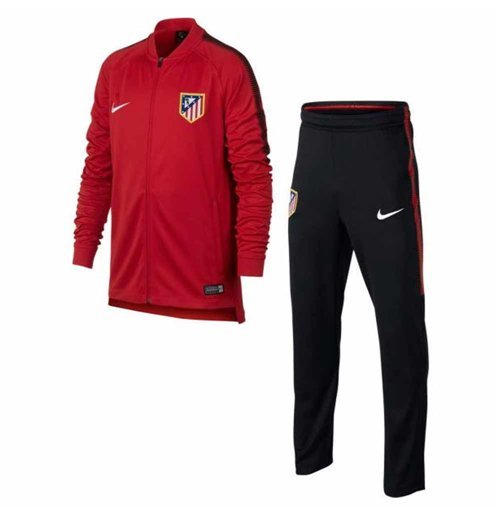 2017-2018 Atletico Madrid Nike Woven Tracksuit (Red) - Kids