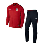 2017-2018 Atletico Madrid Nike Woven Tracksuit (Red)