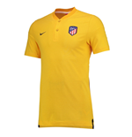 2017-2018 Atletico Madrid Nike Authentic Grand Slam Polo Shirt (Gold)